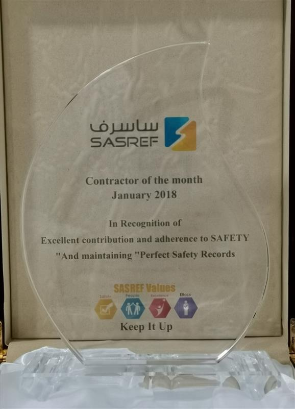 Contractor of the Month  January 2018