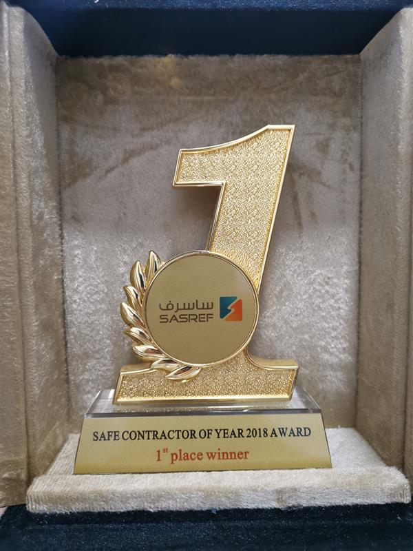Safe Contractor of the Year 2018 - Sasref